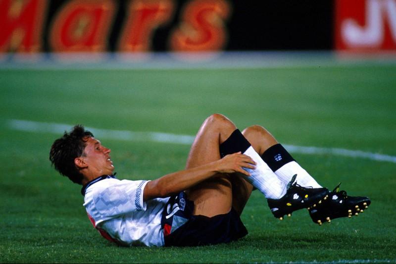 Gary Lineker machte sich bei der WM 1990 in der Partie gegen Irland in die Hose