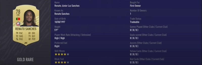 Renato Sanches ist ein echter Allrounder bei FIFA und nicht teuer