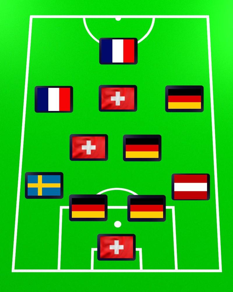 Das vierte Team ist bei Quiz gesucht: Welche Bundesliga-Mannschaft könnte mit dieser Aufstellung starten?