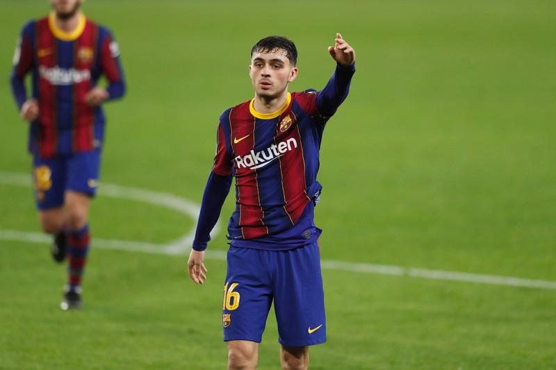 Pedri spielt diese Saison für den FC Barcelona in La Liga stamm