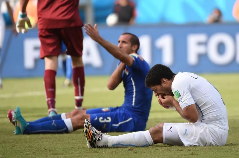 Chiellini hat sich später über den Biss von Suarez bei der WM 2014 geäußert