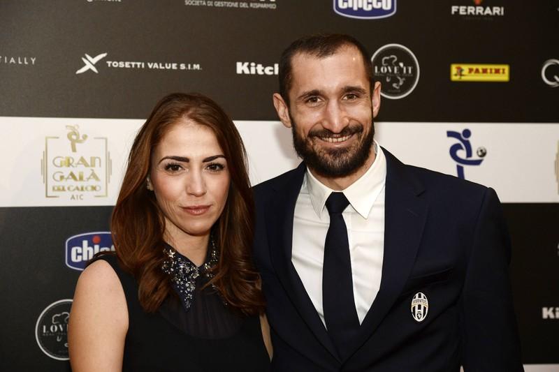 Chiellini zusammen mit seiner Frau Carolina Bonistalli